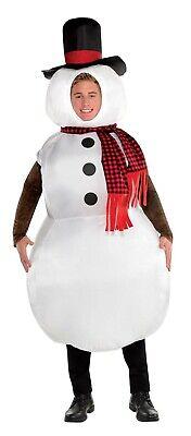 Aufblasbar Schneemann Herren Erwachsene Weihnachten Frosty Holiday Kostüm ()