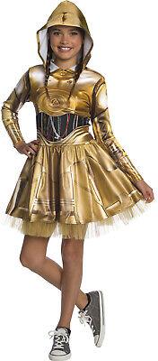 rwachen der Macht Mädchen Kind Halloween Roboter Verkleidung (Kind C3po Kostüm)