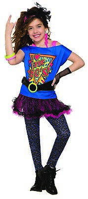 Totally 80s Girls Child Rock Star Diva Halloween Costume