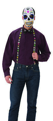 Deluxe Day Of The Dead Mens Adult Holiday Sugar Skull Costume Kit