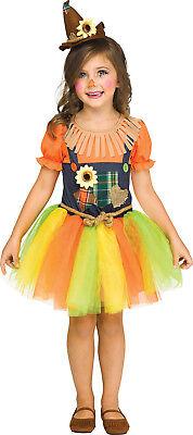 Süß Vogelscheuche Zauberer von oz Mädchen Kleinkind Halloween Kostüm ()