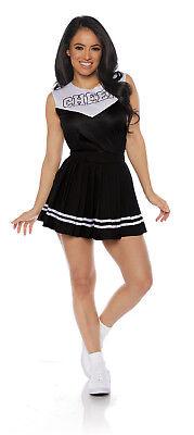 Women's Sporty Halloween Costumes (Black Cheer Womens Adult Cheerleader Sporty Halloween)