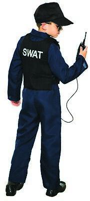Swat Halloween Costume Boys (Swat Boys Child Police Task Force Jumpsuit Halloween)