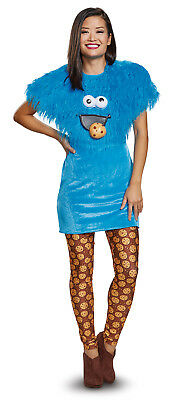 Cookie Monster Womens Adult Deluxe Blue Sesame Street Costume