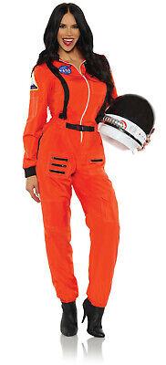 Space Woman Halloween Costumes (Orange Astronaut Womens Adult Space Explorer Halloween)