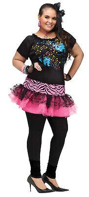 Halloween Costumes 80s Rocker (80S Pop Party Rocker Chick Womens Adult Halloween)