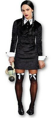 Dreamgirl Friday Addams Black Velvet Dress Gothic Cross Women's Costume - Black Friday Kostüm