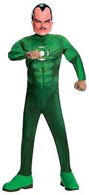 Deluxe Muscle Chest Kid's Boy's Sinestro Costume, Green Lantern, Fancy Dress - Sinestro Costume
