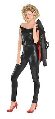 Greaser Bad Sandy Womens Adult Black Tight Grease - Sandy Grease Halloween