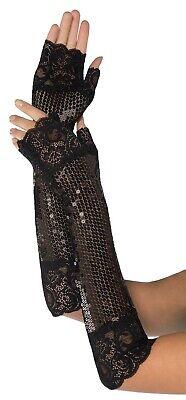 Kostüm Pailletten Damen Erwachsene Flapper Schwarz Fingerlose - Schwarzes Flapper Kostüm Handschuhe