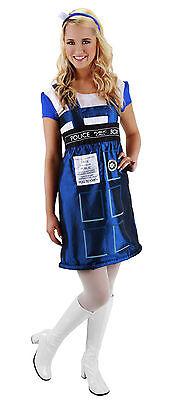 Kids Tardis Costume (Dr Doctor Who - TARDIS Police Call Box Dress Women's Adult Costume - Small /)