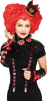 Königin der Herzen Damen Erwachsene Alice Im Wunderland Kostüm Zubehörset