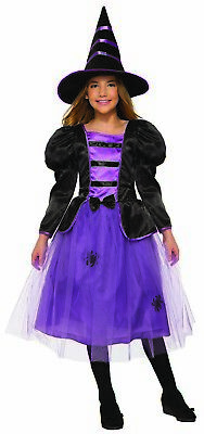 Purple Witch Girls Child Fairytale Sorceress Halloween - Fairytale Witch Costume