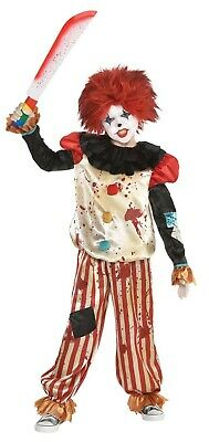 Evil Prankster Jungen Kind Killer Clown Gruselig Halloween - Jungen Killer Clown Kostüm