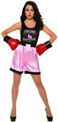 Boxer Costume For Womens (Female Boxer Womens Adult Sporty Halloween)