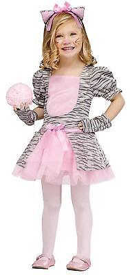 GIRLS GREY AND PINK KITTEN KITTY CAT TODDLER COSTUME 3T-4T FW118051TL](Toddler Girl Kitty Costume)