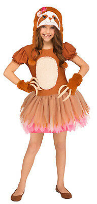 Sassy Sloth Girls Child Cute Brown Animal Halloween Costume - Animal Halloween Costumes For Girls