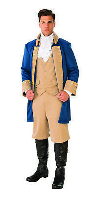 Colonial Halloween Costumes Adults (Patriotic Man Mens Adult Colonial War Presidential Halloween)