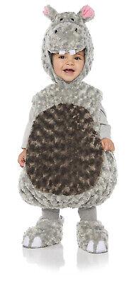 Hippo Girls Toddler Grey Belly Baby Plush Fluffy Animal - Hippo Kostüm Baby