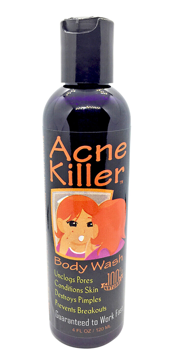 Acne Killer Black Soap Body Wash with Green Tea to Stop
