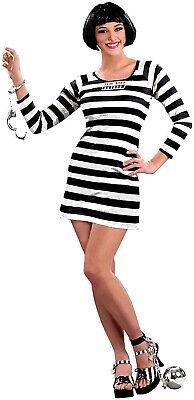 Jail Bird Womens Adult Prisoner Convict Halloween Costume Dress](Womens Convict Costume)
