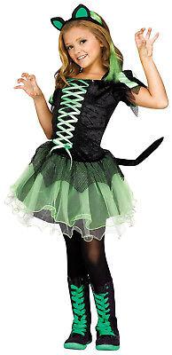 Cat Queen Girls Child Dark Gothic Princess Halloween Costume (Halloween Kid Cat Costumes)