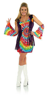 Hippie Chick Halloween Costume (Revolution Womens Adult 60s Hippie Chick Halloween)