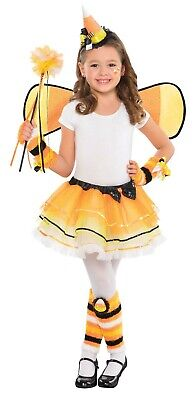 Corn Fairy (Candy Corn Fairy Girls Child Cute Witch Costume Skirt)