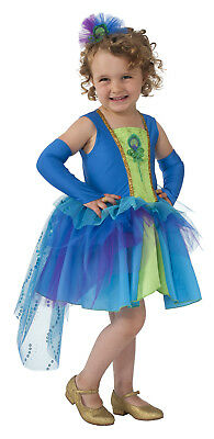 Peacock Girls Child Pretty Bird Animal Halloween Costume-M