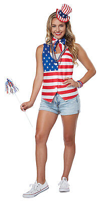 Patriot Women Adult Fourth Of July Costume Kit (Patriotic Costumes For Women)