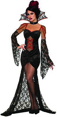 Mesmerizing Vampiress Womens Adult Sexy Dracula Halloween Costume (Dracula Costumes For Women)