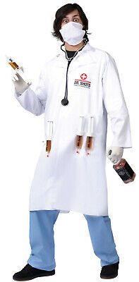 Funny Doctor Halloween Costumes (Dr Shots Mens Adult Funny Drinking Halloween Party)