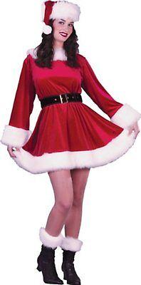 Ms Claus Kostüme (Ms. Santa Dress Mrs. Claus Christmas Costume Red Velvet Small/Medium 2-8 Women's)