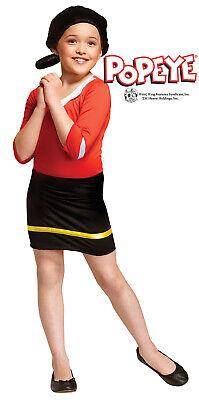 Olive Oyl Mädchen Kind Popeye Cartoon Frau Halloween - Halloween Kostüm Popeye