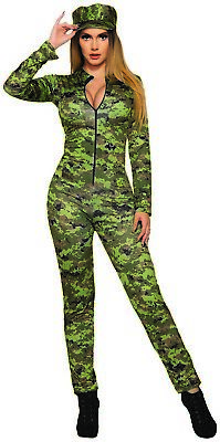 Sexy Armée Femmes Adulte Camouflage Militaire Halloween