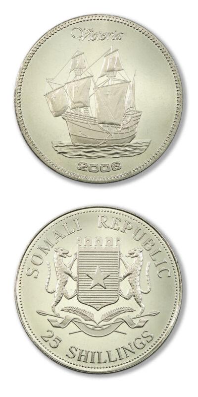 Somali Republic Famous Sailing Ships Victoria 25 Shillings 2006 Prooflike