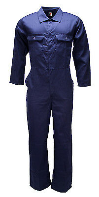 WWK Boilersuit Overall Coverall Mens Kids Navy or Royal mechanic college work - Children's Mechanic Coveralls