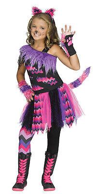Cheshire Cat Girls Child Alice In Wonderland Halloween Costume](Cheshire Cat Costume Girl)