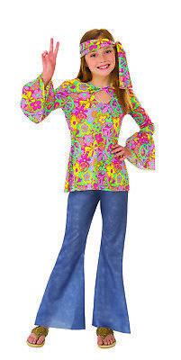 Blume Kinder Mädchen Kinder Hippie 60s Jahre Chick Halloween Kostüm (60 Mädchen Halloween Kostüme)