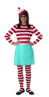 Wheres Waldo Wenda Womens Adult Character Halloween Costume (Halloween Costumes Waldo)