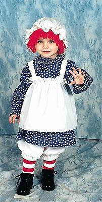 GIRLS TODDLERS RAG RAGGEDY ANN DOLL COSTUME 12112 14 17 (Toddler Rag Doll Costume)