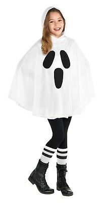Ghost Girls Child Classic Halloween Character Costume Poncho - Baby Character Costumes