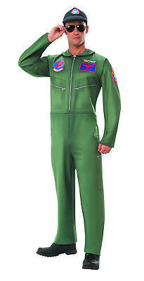 Top Gun Mens Adult Navy Fighter Jet Pilot Halloween Costume - Fighter Jet Pilot Costume