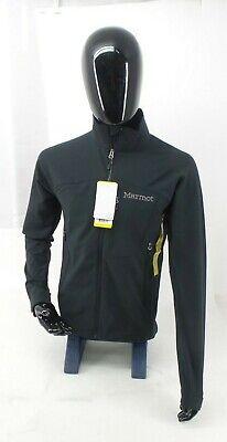 Marmot Mens Black Soft Shell Full Zip Bero Long Sleeve Light Jacket Size - -