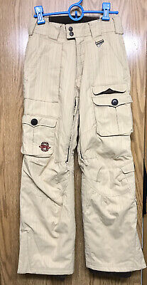 Sims Womens Ski Snowboard Snow Pants Tan Flower Detail Size (Sims Snow Pants)