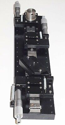 Precision 4 Independent Tray Linear Stage With Mitutoyo Micrometers -works Great