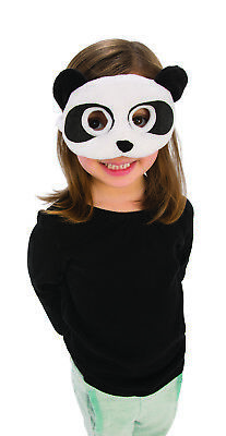 Childs Panda Bear Plush Black White Animal Costume Accessory Mask - Kids Black Bear Costume