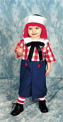 BOYS RAG RAGGEDY ANDY DOLL COSTUME HAT WIG  SOCKS DRESS 12113 12115 NEW (Raggedy Andy Wig)