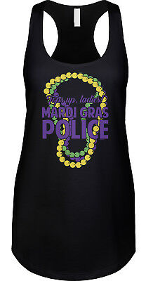 Mardi Gras Police Tops Up Ladies Party Parade Costume Funny Joke Ladies Tank