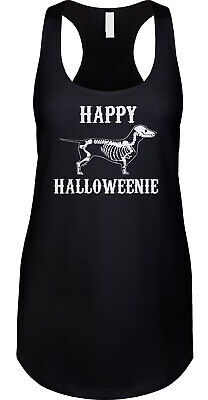Happy Halloweenie Dachshund Halloween Pun Parody Funny Dog Joke Ladies